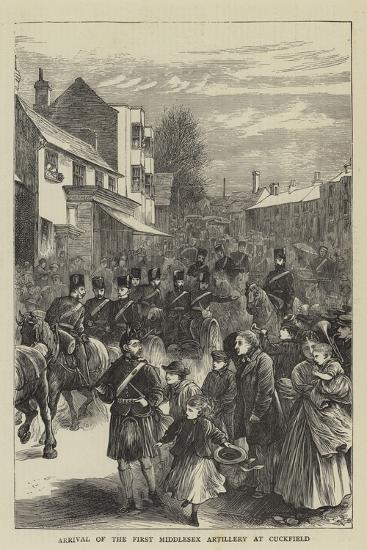 Arrival of the First Middlesex Artillery at Cuckfield--Giclee Print