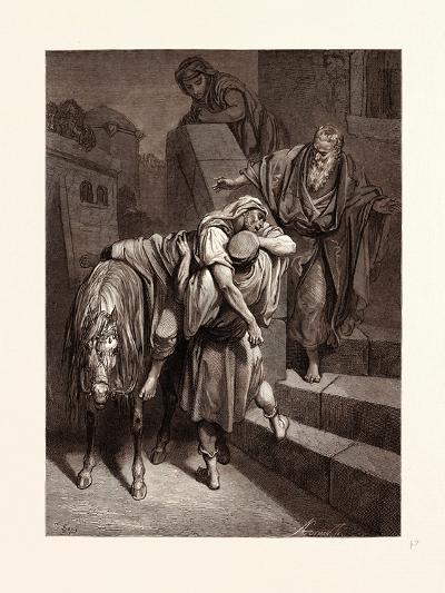 Arrival of the Good Samaritan at the Inn-Gustave Dore-Giclee Print