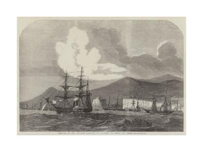 Arrival of the Gun-Boat Flotilla at Madeira, En Route for China--Giclee Print