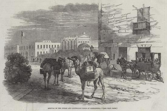 Arrival of the Indian and Australian Mails at Alexandria-Harrison William Weir-Giclee Print