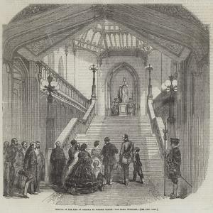 Arrival of the King of Sardinia at Windsor Castle, the Grand Staircase