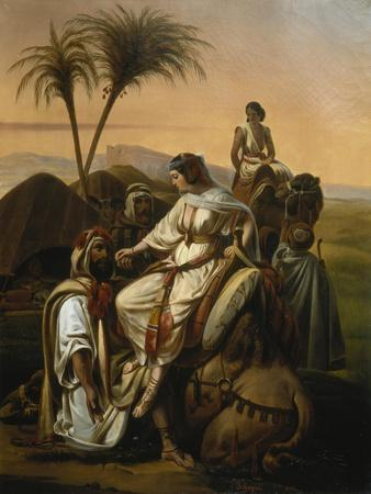 Arrival of the Ladies of the Harem, 1842-Henri-frederic Schopin-Giclee Print