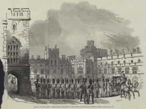 Arrival of the London Corporation Procession in the Great Quadrangle, Windsor Castle