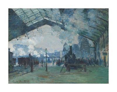 Arrival of the Normandy Train, Gare Saint-Lazare, 1877-Claude Monet-Art Print