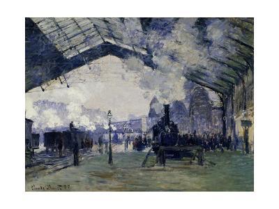 Arrival of the Normandy Train, Gare Saint-Lazare, 1877-Claude Monet-Giclee Print