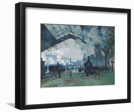 Arrival of the Normandy Train, Gare Saint-Lazare by Claude Monet-Claude Monet-Framed Giclee Print
