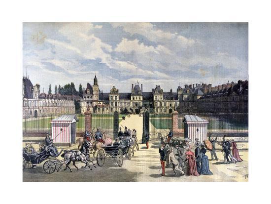 Arrival of the President of the Republique, Château De Fontainebleau, 1892-Henri Meyer-Giclee Print