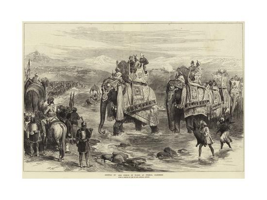 Arrival of the Prince of Wales at Jummoo, Cashmere-Arthur Hopkins-Giclee Print