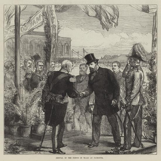 Arrival of the Prince of Wales at Plymouth-Charles Robinson-Giclee Print