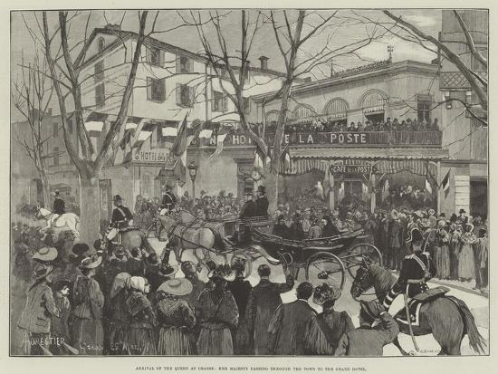 Arrival of the Queen at Grasse, Her Majesty Passing Through the Town to the Grand Hotel-Amedee Forestier-Giclee Print