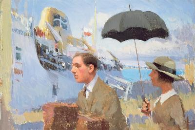 Arrival of the Scillonian, 2003-Alan Kingsbury-Giclee Print