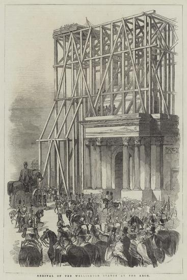 Arrival of the Wellington Statue at the Arch--Giclee Print