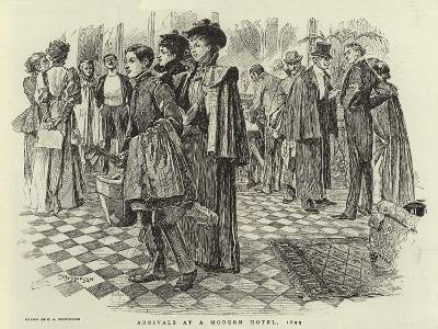Arrivals at a Modern Hotel, 1895-Claude Shepperson-Giclee Print