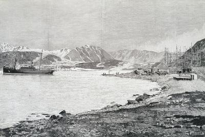 Arriving at Base on Island of Danes, Scene from Account by Salomon August Andree--Giclee Print