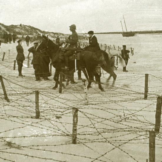 Arriving at La Panne, Flanders, Belgium, c1914-c1918-Unknown-Photographic Print