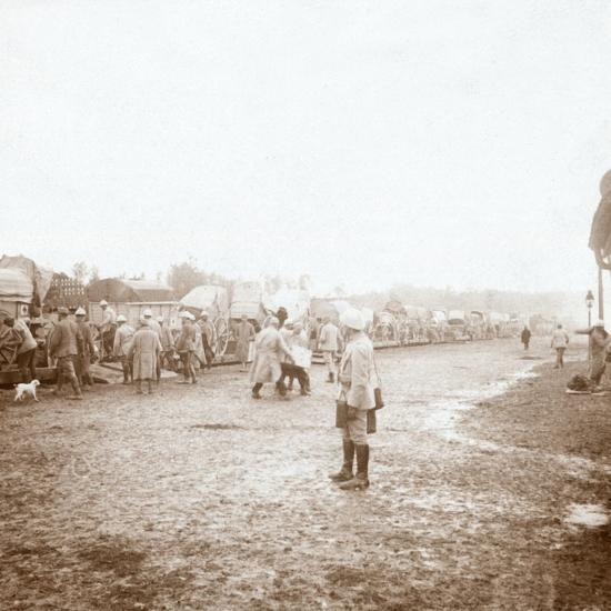 Arriving at Revigny, northern France, c1914-c1918-Unknown-Photographic Print