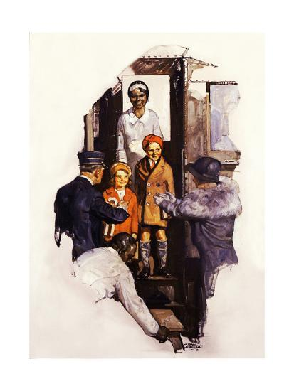 Arriving at the Station-Dan Content-Giclee Print