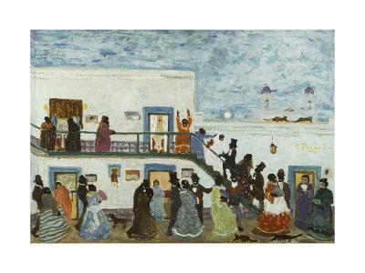 Arriving to Church; Llegando De La Iglesia-Pedro Figari-Giclee Print