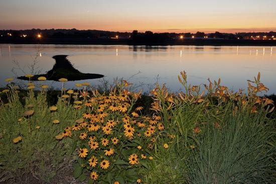 Arrow Island on Mississippi-benkrut-Photographic Print