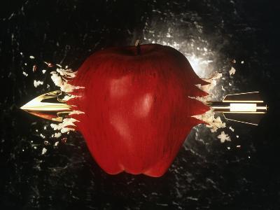 Arrow Pierces Apple-Phil Jude-Photographic Print