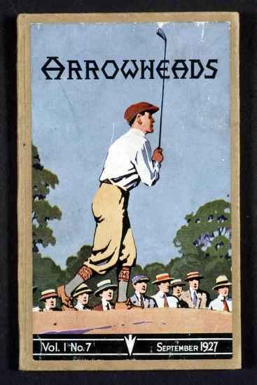 Arrowheads, magazine cover, Sandwich, 1927-Unknown-Giclee Print