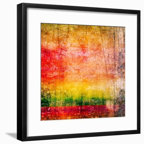 Art Abstract Colorful Background-Irina QQQ-Framed Premium Giclee Print