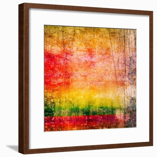 Art Abstract Colorful Background-Irina QQQ-Framed Premium Giclee Print