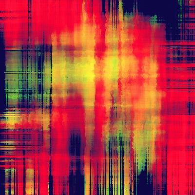 Art Abstract Geometric Pattern, Background In Bright Red , Gold And Green Colors-Irina QQQ-Art Print