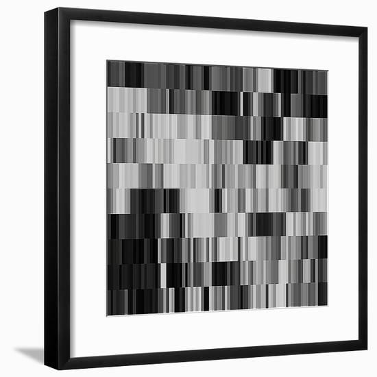 Art Abstract Geometric Textured Background in Black and White Colors, Pattern-Irina QQQ-Framed Premium Giclee Print