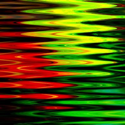 Art Abstract Geometric Textured Bright Green And Red Background-Irina QQQ-Art Print