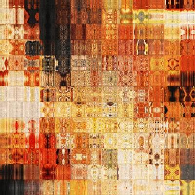 Art Abstract Rainbow Geometric Pattern Background In Red Color-Irina QQQ-Art Print