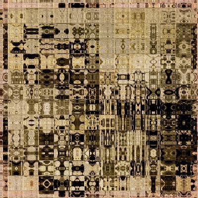 Art Abstract Vibrant Geometric Pattern Background In Black, Sepia And Brown Colors-Irina QQQ-Art Print