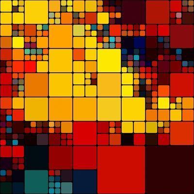 Art Abstract Vibrant Rainbow Geometric Pattern Background-Irina QQQ-Art Print