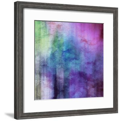 Art Abstract Watercolor Background On Paper Texture In Light Violet And Pink Colors-Irina QQQ-Framed Premium Giclee Print