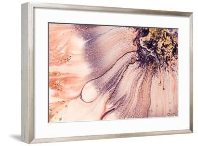 Art and Gold. Natural Luxury. Abstract Painting. Mixed Paints with Golden Powder.-CARACOLLA-Framed Photographic Print