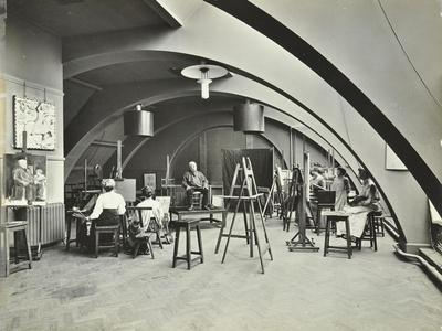 Art Class, Westminster Technical Institute, London, 1910--Photographic Print