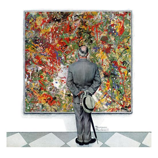 """Art Connoisseur"", January 13,1962-Norman Rockwell-Premium Giclee Print"