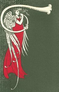 Art Deco Angel Blowing Trumpet