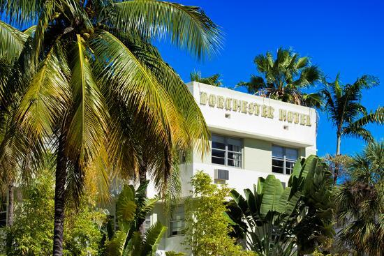 Art Deco Architecture Of Miami Beach Dorchester Hotel South Florida Photographic Print By Philippe Hugonnard