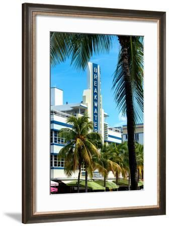 Art Deco Architecture of Miami Beach - The Esplendor Hotel Breakwater South Beach - Ocean Drive-Philippe Hugonnard-Framed Photographic Print