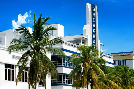 Art Deco Architecture Of Miami Beach The Esplendor Hotel Breakwater South Ocean Drive Photographic Print By Philippe Hugonnard