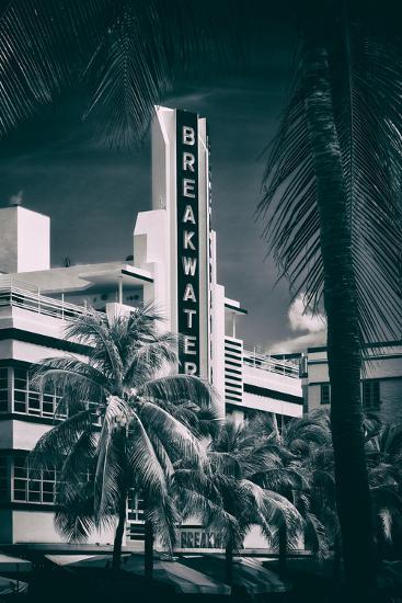 Art Deco Architecture of Miami Beach - The Esplendor Hotel Breakwater South Beach - Ocean Drive-Philippe Hugonnard-Photographic Print