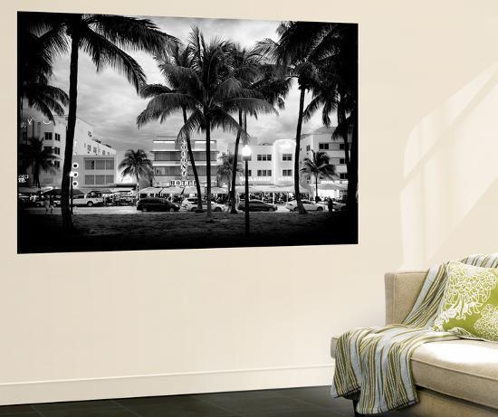 Art Deco Architecture of Ocean Drive - Miami Beach - Florida-Philippe Hugonnard-Wall Mural