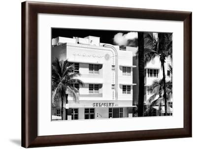 Art Deco Architecture of Ocean Drive - Miami Beach - Florida-Philippe Hugonnard-Framed Photographic Print