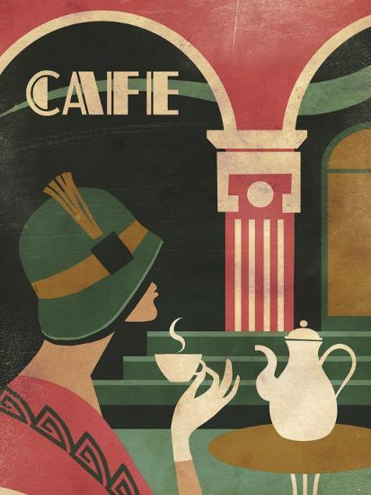 Art Deco Cafe-Martin Wickstrom-Giclee Print