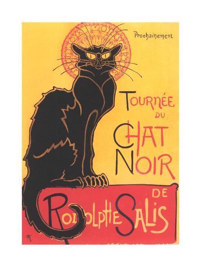 Art Deco Chat Noir Poster--Art Print