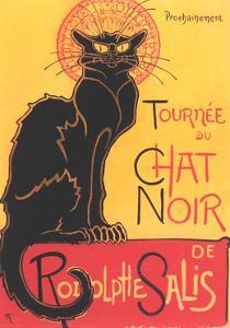 Art Deco Chat Noir Poster