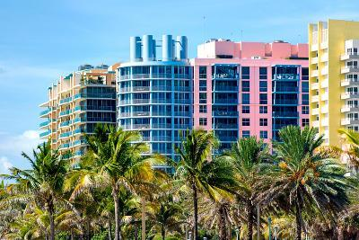 Art Deco Colors Architecture of Miami Beach - South Beach - Florida-Philippe Hugonnard-Photographic Print