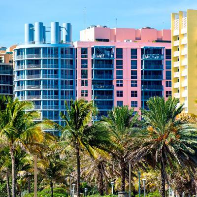Art Deco Colors Architecture of Miami Beach - South Beach - Florida-Philippe Hugonnard-Photographic Print