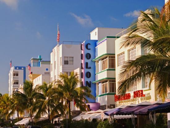 art deco district of south beach miami beach florida photographic